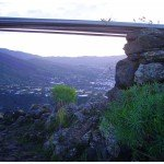 Wanderweggabelung mit Aussicht ins Aridanetal, La Palma, Wandern,
