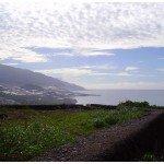 Aussicht vor dem Abstieg nach Tazacorte, La Palma, Wandern,