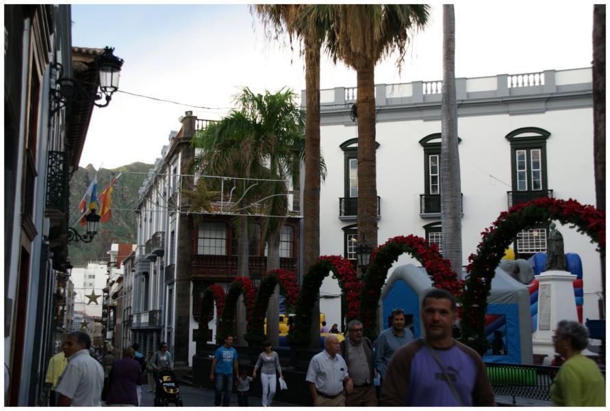 Plaza España in der Hauptstadt von La Palma Santa Cruz de La Palma. La Palma, Wandern,