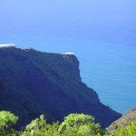 Blick in den Barranco Jurado mit dem Wanderweg LP12/2 in Tijarafe, La Palma, Wandern