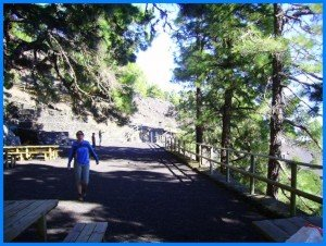 Auf dem Rastplatz Fuente de Los Roques, La Palma, Wandern,