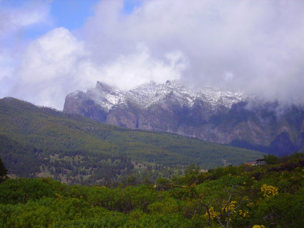 Punto de Los Roques im Schnee, La Palma.