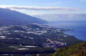 Aussicht über das Aridanetal vom Wegkreuz GR 130 und GR 131.La Palma