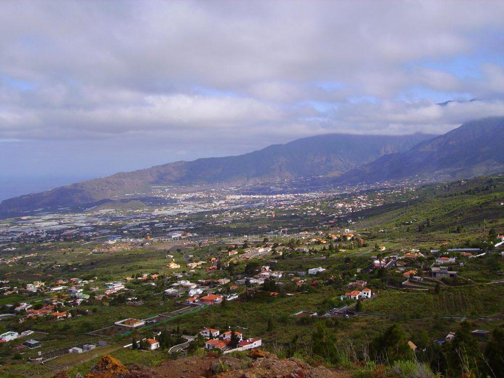 Blick über El Paraiso nach Los Llanos. La Palma