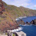 Steilküste bei der Playa Nogales, La Palma, Wandern,