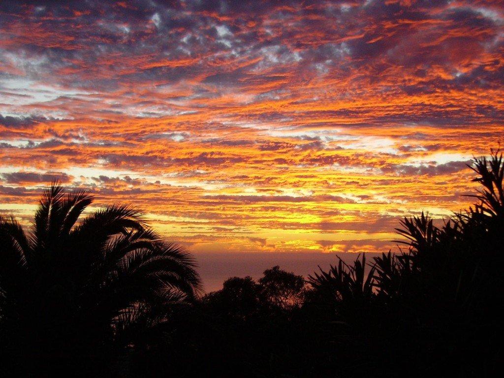 Sonnenuntergang auf La Palma,Wandern in La Palma