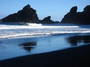 Am Strand Playa Nogales herrliches Lichtspiel   La Palma