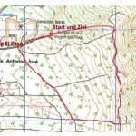 Wegverlauf Landkarte,La Palma, Wandern,