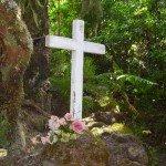Kreuz Cruz de los Acosta am LP 17, La Palma, Wandern,