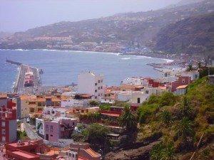 Der Hafen von Santa Cruz de La Palma, Wandern in La Palma,
