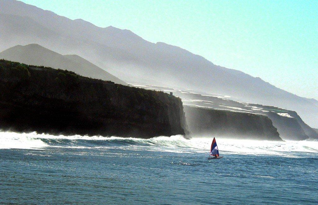 La Palma Wetter-Küste im Westen der Insel La Palma
