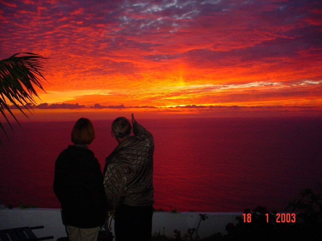 Sonnenuntergang der besonderen Art, La Palma, Wandern,