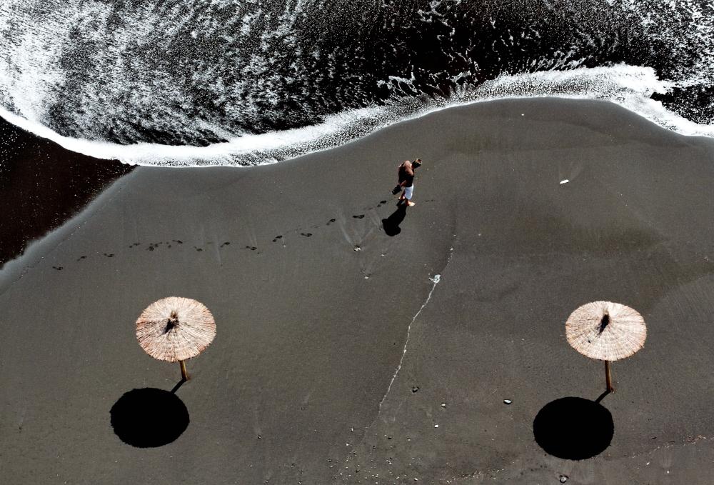 Spuren im Sand,La Palma,Wandern,