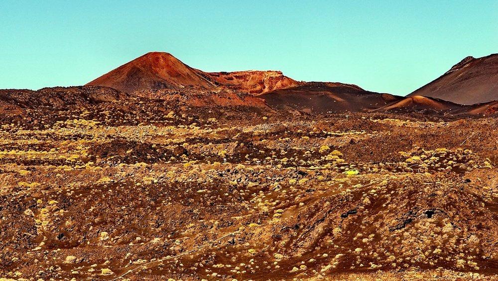 Landschaft im Süden La Palmas,Wandern,
