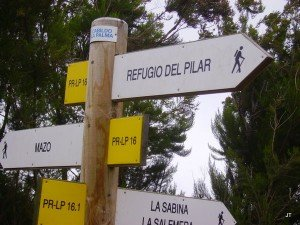 Wanderschild Beispiel,La Palma, Wandern,