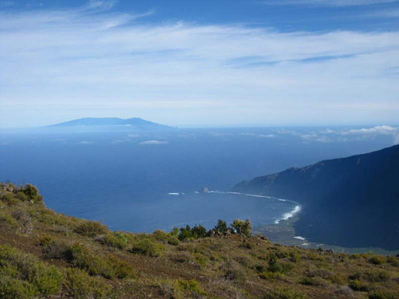 La Palma, Wandern, La Palma von El Hierro aus fotografiert