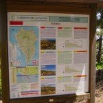 Schautafeln am Start verschiedener Wandertouren, La Palma