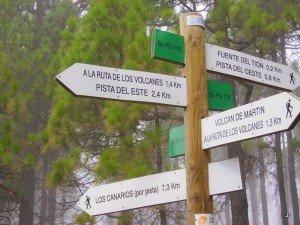 Wanderwege Ausschilderung Beispiel, La Palma, Wandern,
