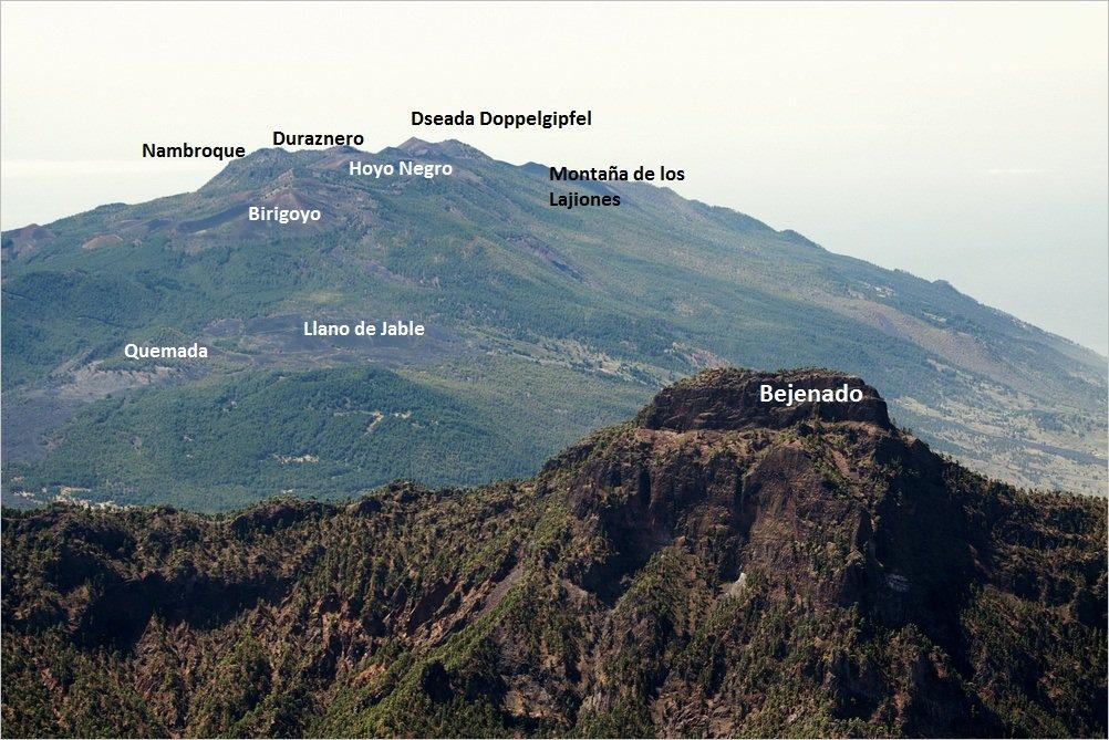 Cumbre Vieja La Palma, Wandern,