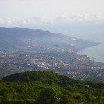 La Palma, Wandern, Blick Richtung Santa Cruz de La Palma