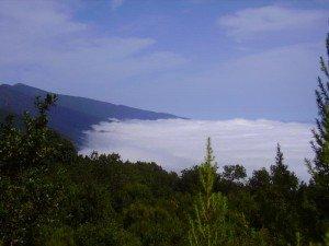 La Palma, Wandern, Blick Richtung Cumbre Nueva