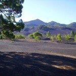 Llano de Jable , im Hintergrund der Pico Birigoyo, La Palma