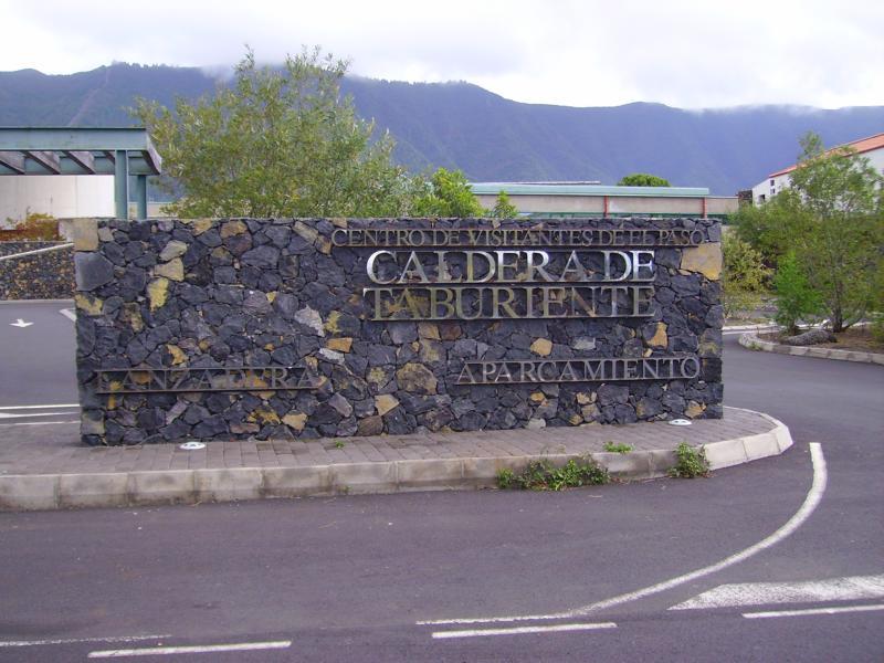 Parkplatz Centro de Visitantes in El Paso auf La Palma.