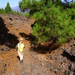 Beim Abstieg im Lavafeld, La Palma, Wandern