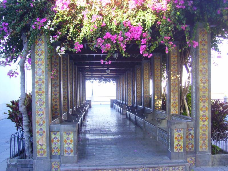 In Tazacorte neben der Kirche, La Palma, Wandern