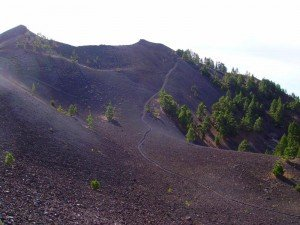 Der Vulkan Deseada der höchste Punkt auf der Cumbre Vieja.La Palma,Wandern