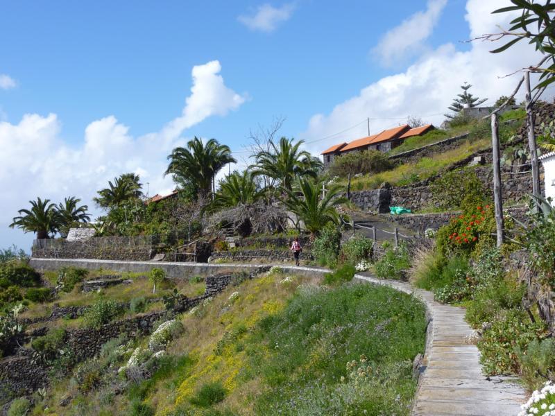 Auf dem Wasserkanal bei Las Indias, La Palma, Wandern,