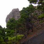 Rest eines Vulkanschlots,La Palma,Wandern