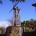 Alte Windmühle in Pundagorda auf La Palma.Wandern
