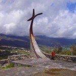 Gipfelkreuz-Montaña-Breña-La-Palma-Wandern