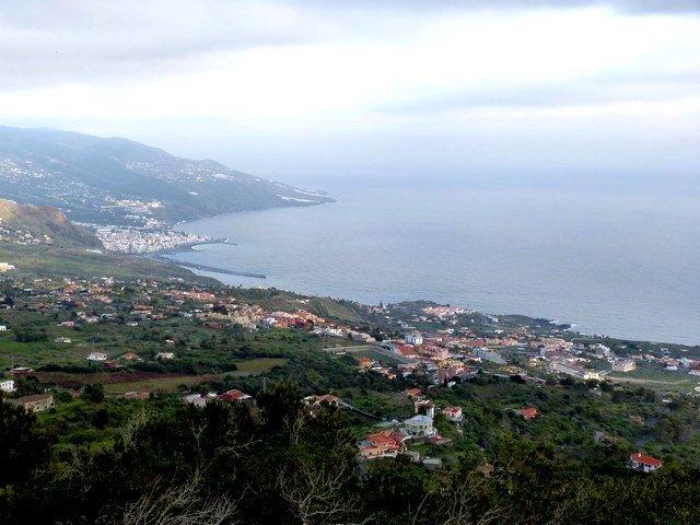 La Palma Wandern_Ausblick nach Santa Cruz