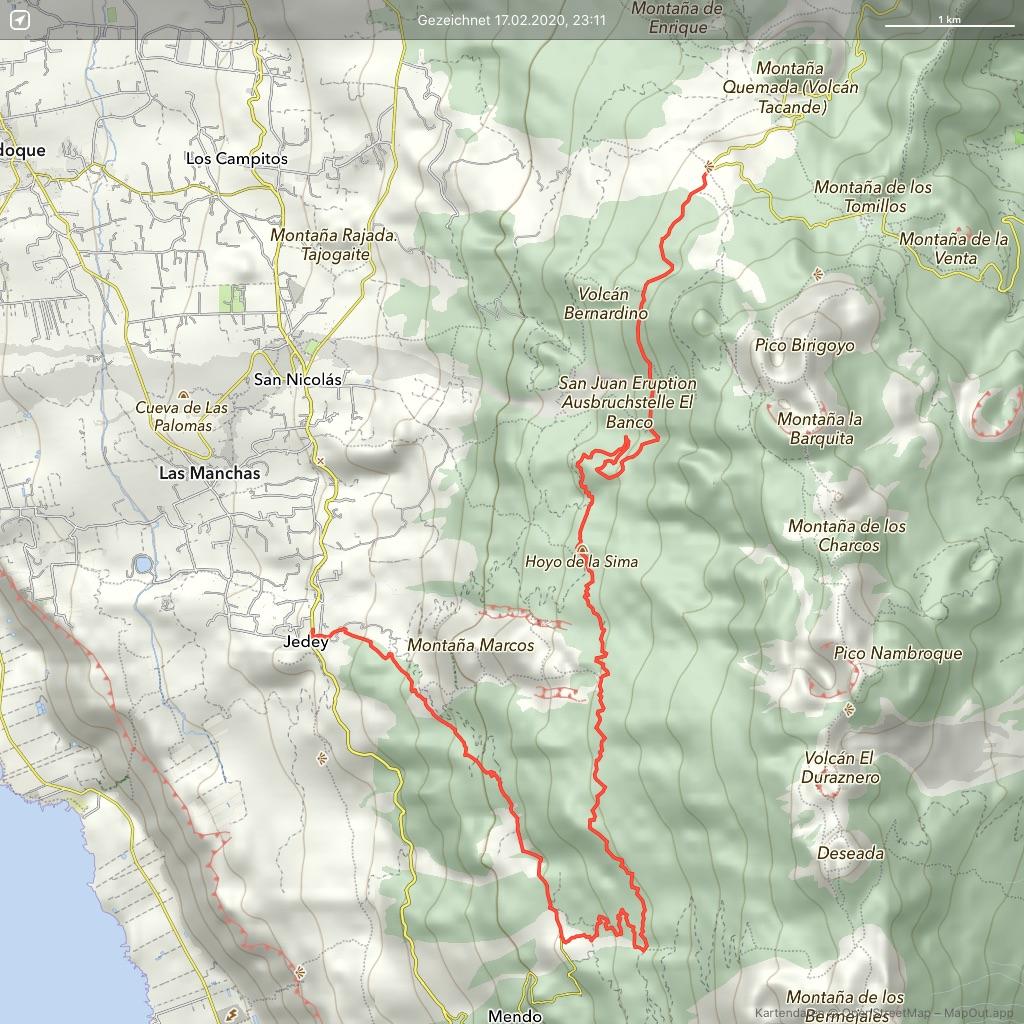 La-Palma-Wandern-vom-Mirador-Llano-de-Jable-nach-Jedey