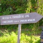 La Palma,Wandern,Hinweisschid