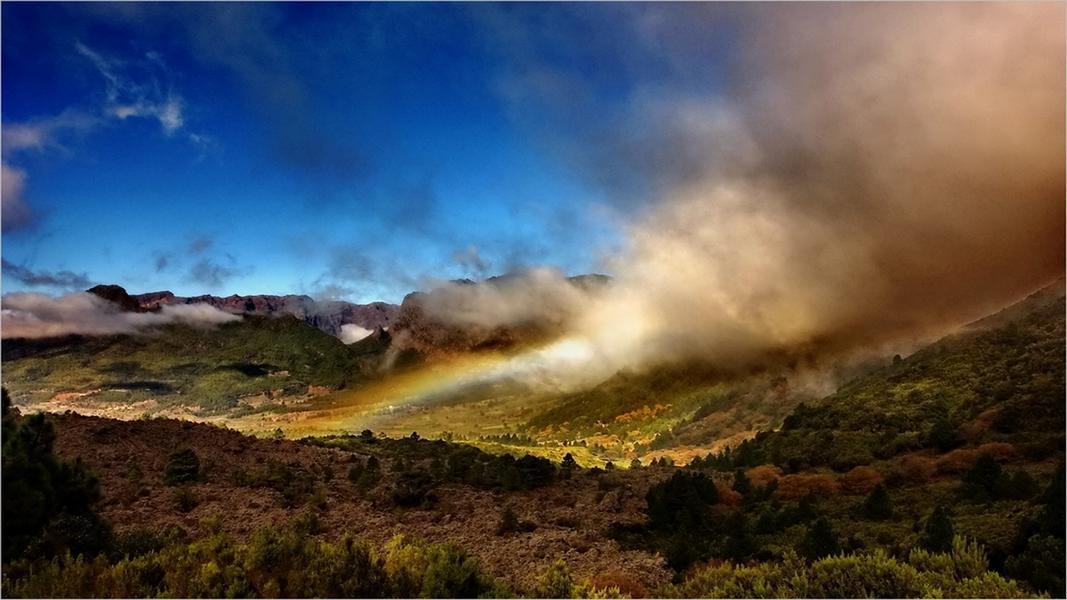 La Palma-Wandern-Aussicht zur Cumbrecita