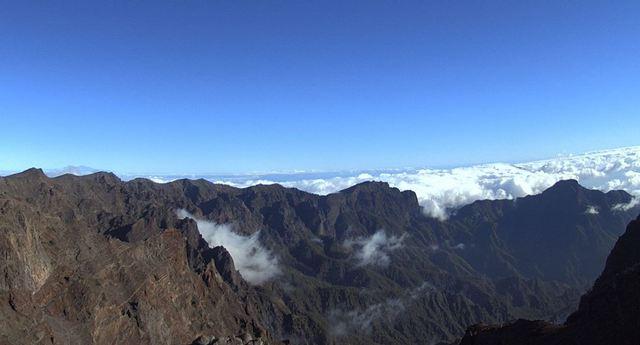 La Palma Webcam die Gipfel des Nationalparks