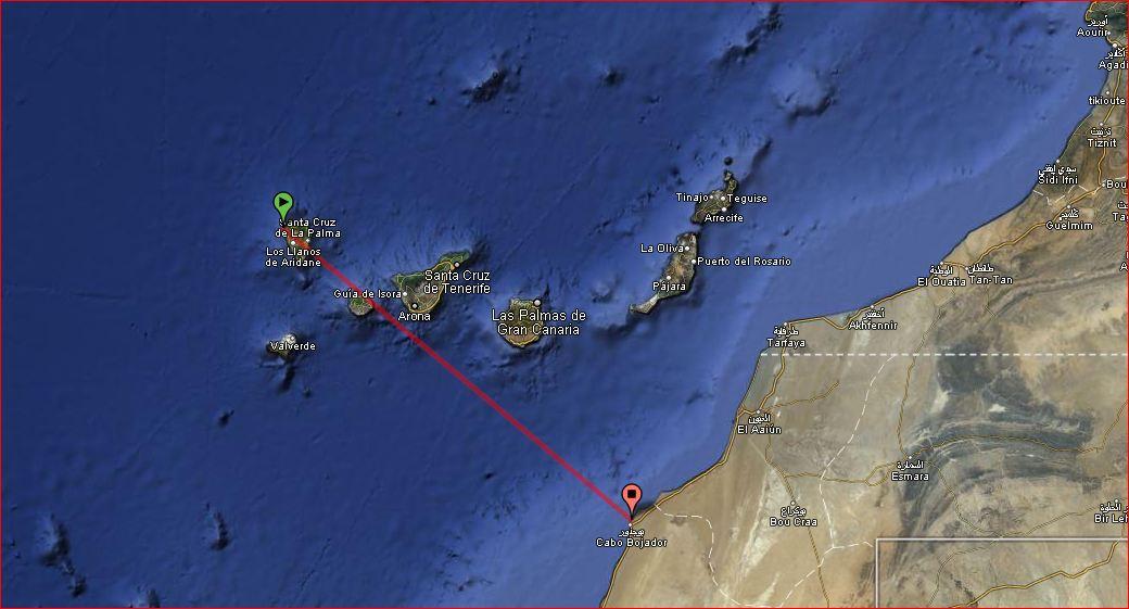 Die Inselgruppe der Kanaren und Nordwestafrika Landkarte