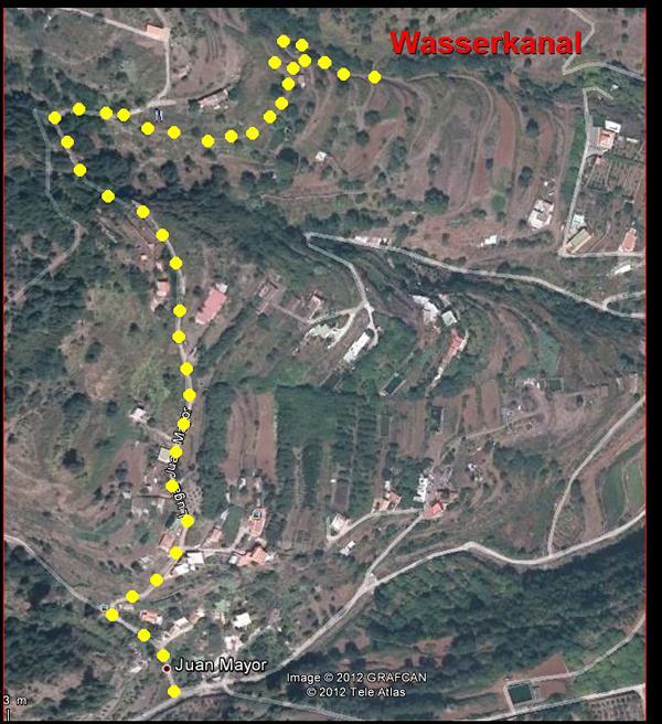 Wanderkarte-La Palma-San Pedro nach Santa Cruz.