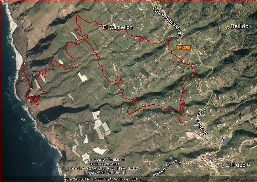 La Palma Strände-Wanderung -Strand la Veta