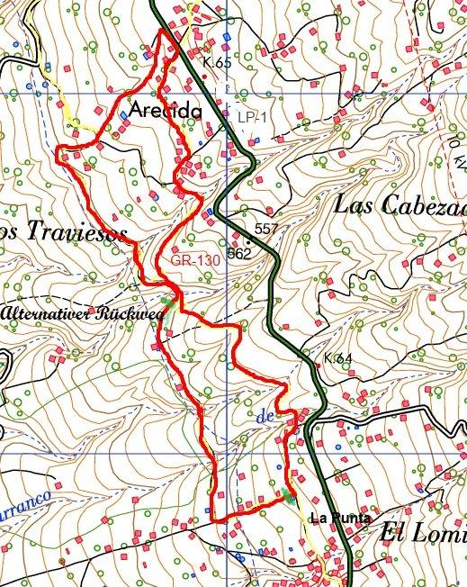 La Palma-Wanderkarte