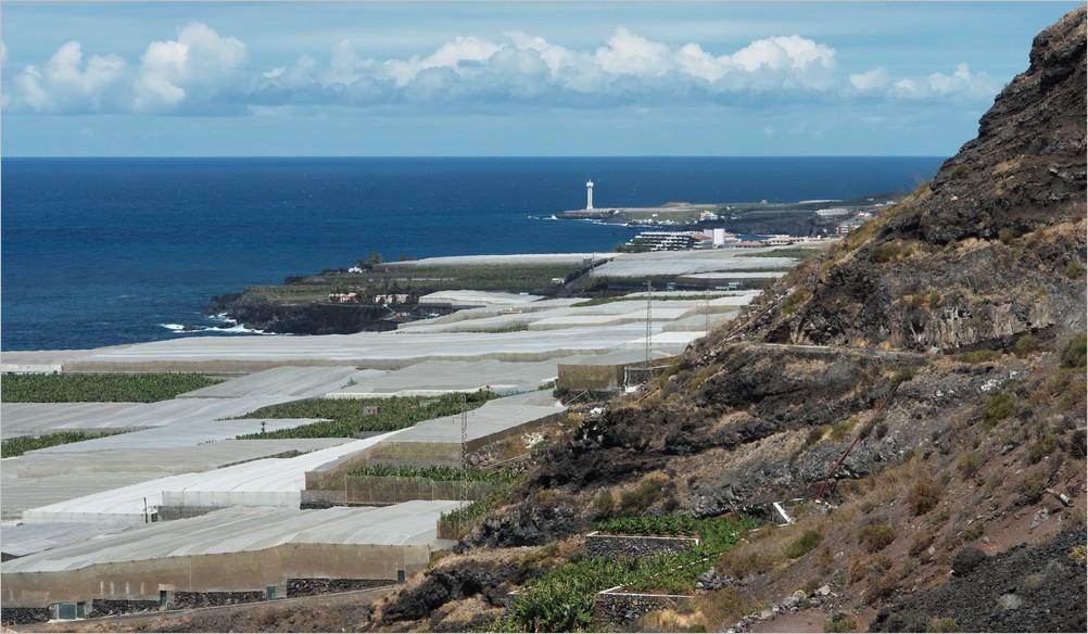La Palma Wanderung-Blick nach Puerto Naos