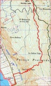 Wanderkarte El remo 2-La Palma