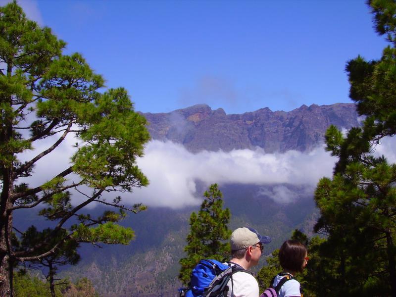 La Palma-Wanderungen-Aussichtsplatz-La Cumbrecita