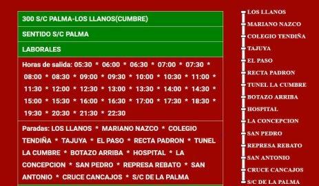 El Paso Busfahrplan Busfahrplan La Palma Los Llanos-Santa Cruz de La Palma