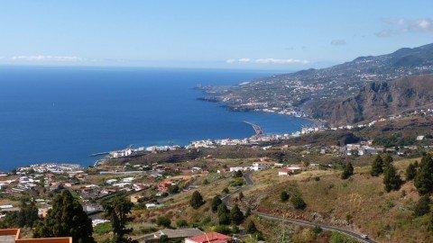 La Palma Ausblick auf die Hauptstadt Sata Cruz de La Palma