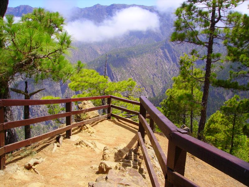 La Palma Wandern Aussichtspunkte La Cumbrecita, Las Chozas,  Los  Roques