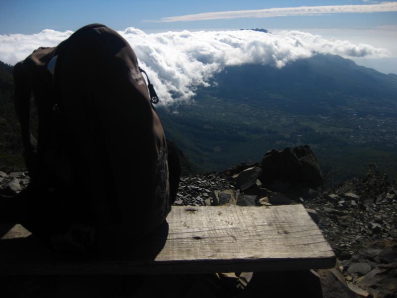 La Palma-Wanderung-Pause auf dem GR 131